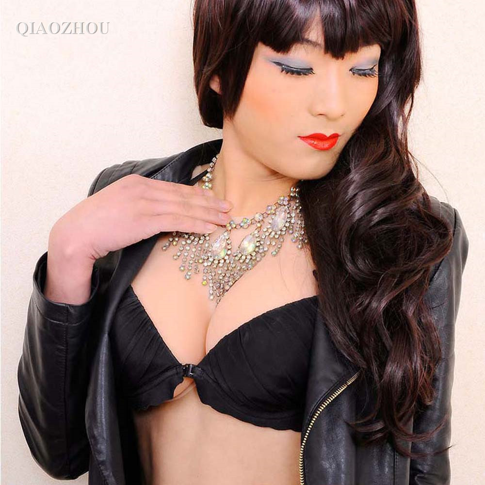 1000g transeksual fake boobs with straps crossdresser realistic silicone breast forms 34b 36b 1000g