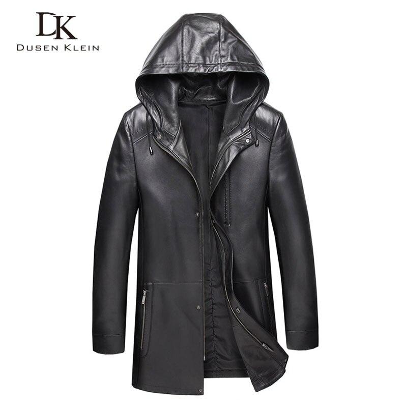 Hommes en cuir véritable veste à capuche en cuir vestes 8XL grande taille décontracté réel peau de mouton veste 9028