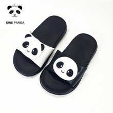 KINE PANDA Indoor Children Slippers Girls Boys Little Kids House Shoes Cute Panda Soft Toddler Baby Home Shoes Light Weight цена 2017