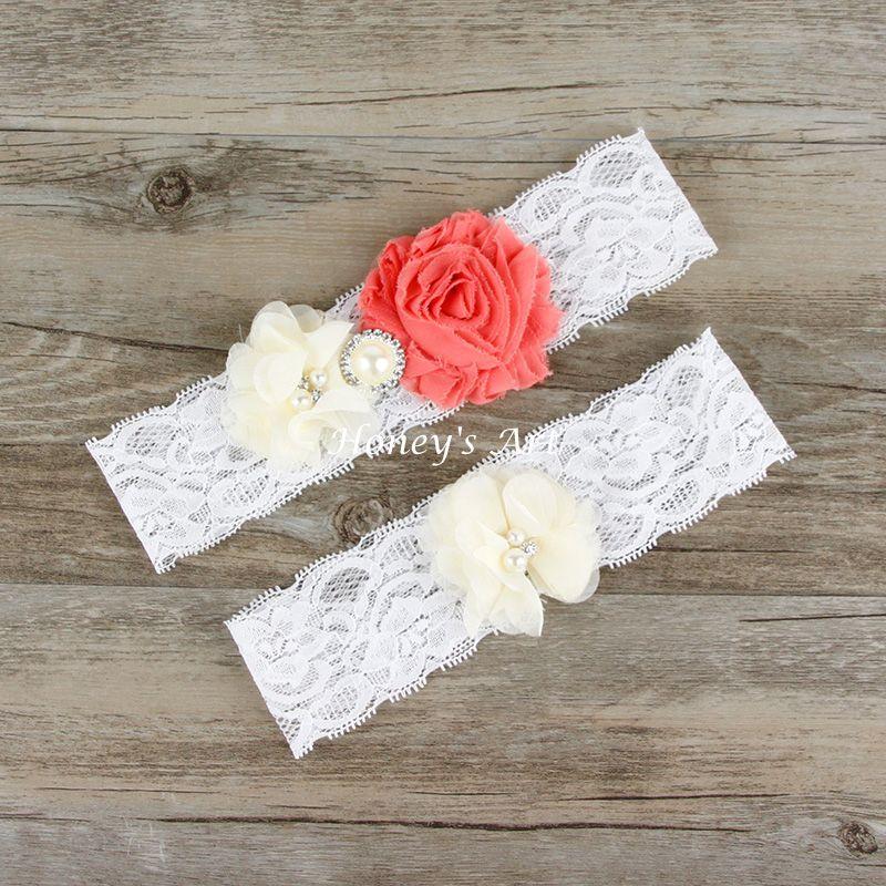 White Wedding Garter: 2pcs/Set Bridal Garter Keepsake Toss Vintage Lace Garters
