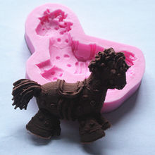 Venda por atacado/varejo, transporte livre, 1 PCS FM425 lIittle cavalo molde de silicone molde de chocolate