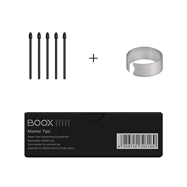 Kit de puntas de marcador Original de BOOX para Note Plus/Note Pro/Nova Pro lápiz plomo, 5 piezas