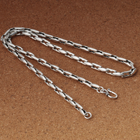 925 sterling silver jewellery vintage men's new fashion necklace personality splicing Silver Chain overbearing necklace