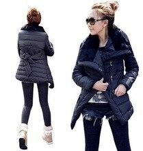 Бесплатная Доставка Новый Оригинальный 2014 Искусственный Мех нагрудные хлопка мягкой одежда зимняя верхняя одежда Женская Мода Средней Длины куртки