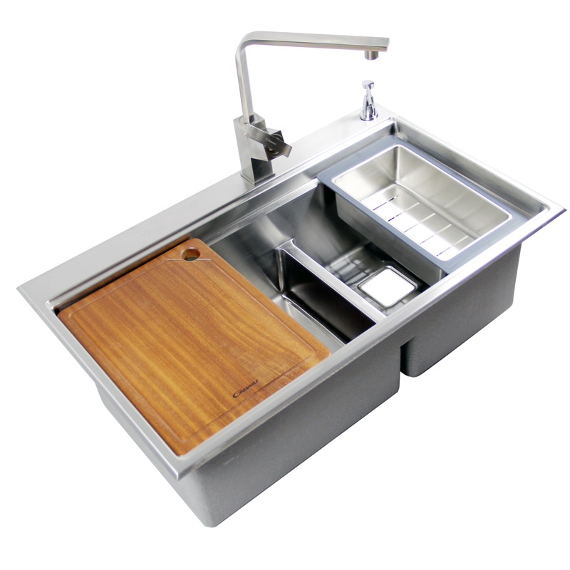 Aliexpress Com Buy 2016 New 3d Three Kitchen Sink Hidden Space Saving 304 Stainless Steel Kitchen Sinks Ems Shipping Plug All Include Inoviate Pia From
