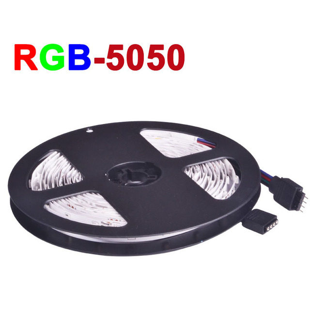 Hot Sale 5M RGB LED Strip Light 300Leds 5050 SMD DC12V 60Leds/M RGB Fiexble Light Tape Lamp For Home Decoration Non-waterproof