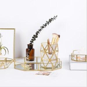 Image 4 - Nordic ตกแต่งบ้านแก้วความงามแปรงหลอดสวยงามแปรงแต่งหน้าถัง Creative แจกันสำหรับตกแต่งแจกัน Home