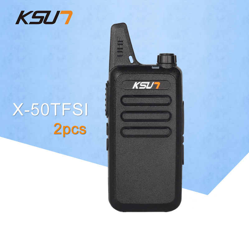(2 stk.) KSUN X-50TFSI Ham Tovejs Radio Walkie Talkie Dual-Band Transceiver BUXUN X-50 (Sort)