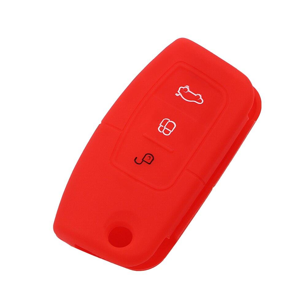 Vehemo Силиконовые дистанционного Брелок Обложка защита автомобиля чехол для пульта дистанционного управления автомобиля силиконовый чехол для ключей мягкий держатель для Ford Fiesta лиса
