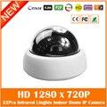 Hd 720 p domo ip cámara de visión nocturna por infrarrojos cctv de vigilancia de seguridad de interior cmos webcam motion detectar blanco freeshipping
