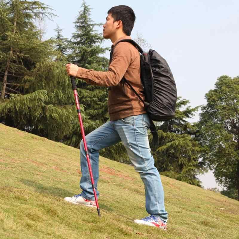 Novo Ultra Light Quatro Seções Bengala Cane Ajustável Fácil Dobrável Dobrável Viagem Camping Trekking Vara