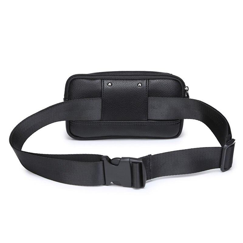 Delle Black Dell'unità Sacchetto Le Piccolo Cellulare Casual Donne Uomini Per Cintura Degli Packs Modello Vita Della Elaborazione Unisex Marsupio Gli Telefono Del Cuoio Di Litchi Borsa wfAqfI4rW