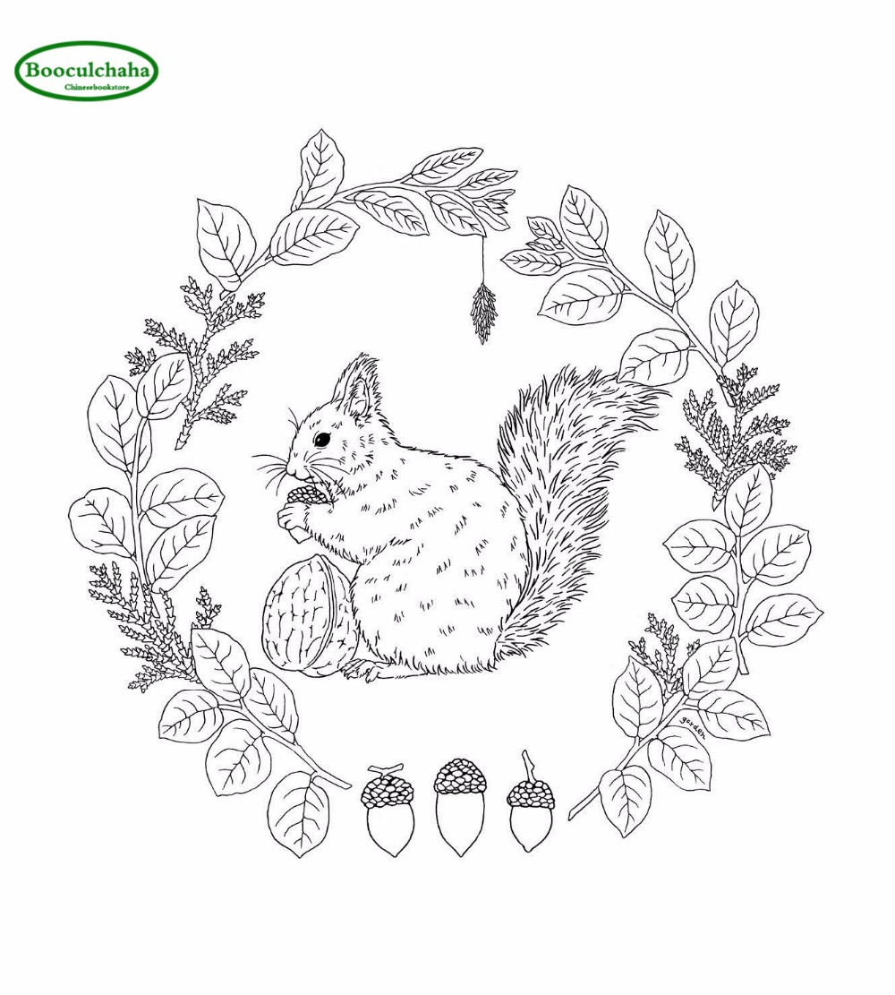 Garden Coloring Book flower bird anti stress coloring books adults ...