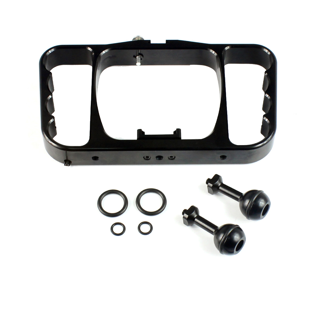 Image 5 - Dual Handle Scuba Diving Bracket Flash Light Mounting Frame Kit for Gopro Hero 7 6 5 4 SJCAM Sony Camera Camcorder Smartphone-in Sports Camcorder Cases from Consumer Electronics