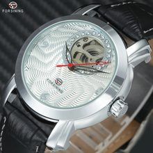 1afeb68a8fe FORSINING Homens Mulheres Moda Relógios Top Marca de Luxo Esqueleto Mecânico  Automático relógio de Pulso de