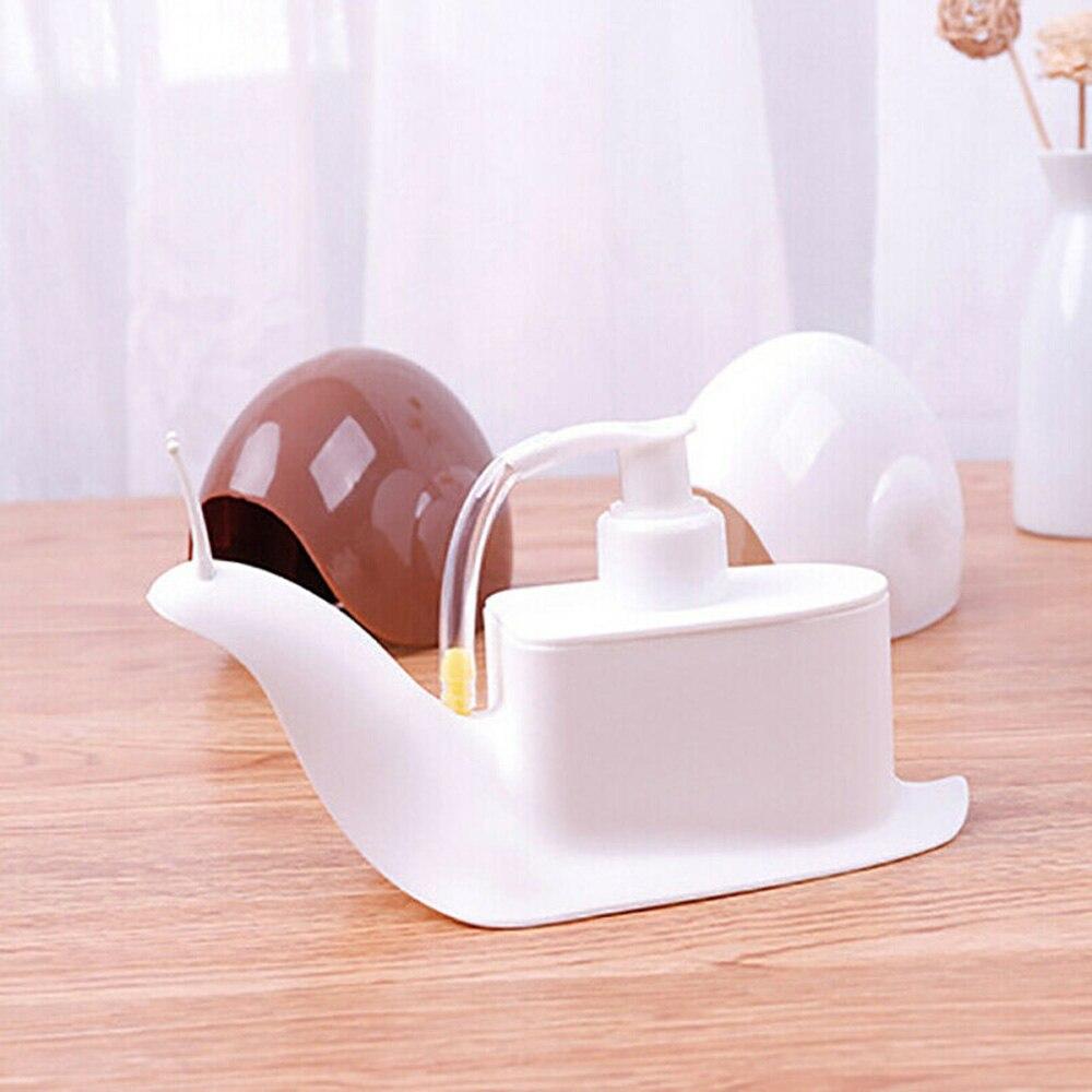 Cute Snail Shape Pressing Lotion Bottle Shampoo Hand Sanitizer Parting Bottle Liquid Soap Dispensers Home Bathroom Accessories