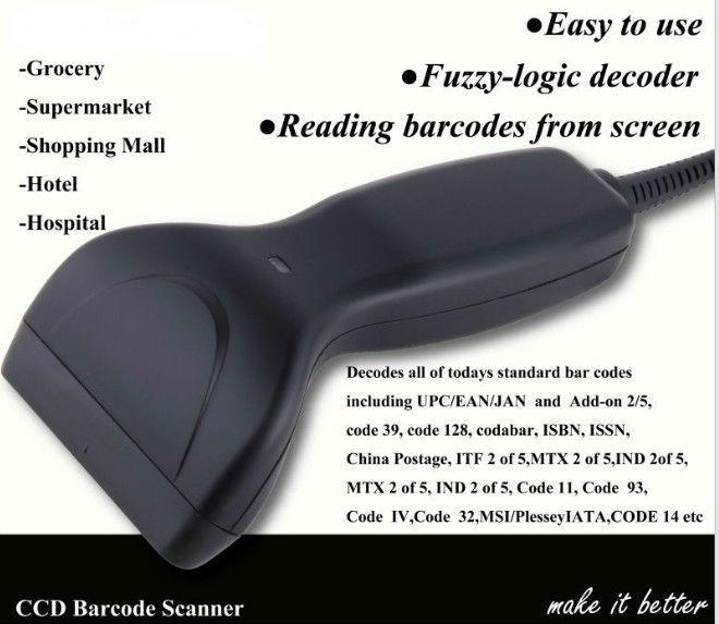 Свободная рука междугородние сканер штрих-кода/ручной сканер штрих-кода/штрих-кода CCD scannernew Расширенный CCD сканер штрих-кода