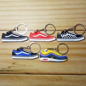 مصغرة سيليكون الأردن الأحذية حقيبة سلسلة مفاتيح سحر امرأة الرجال الاطفال حلقة رئيسية الهدايا حذاء رياضة مفتاح حامل مفتاح سلسلة