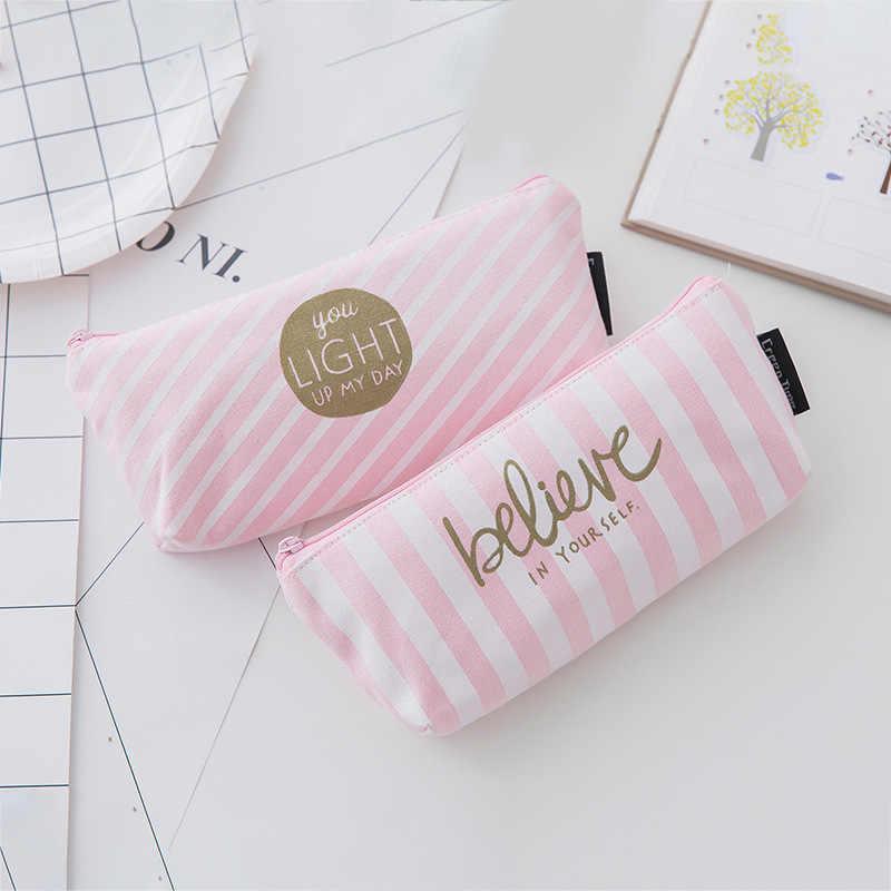1 قطعة/بيع موجزة Kawaii مقلمة لطيف الوردي المعين نمط اللوازم المدرسية القرطاسية هدية قلم رصاص صندوق حقيبة أقلام رصاص