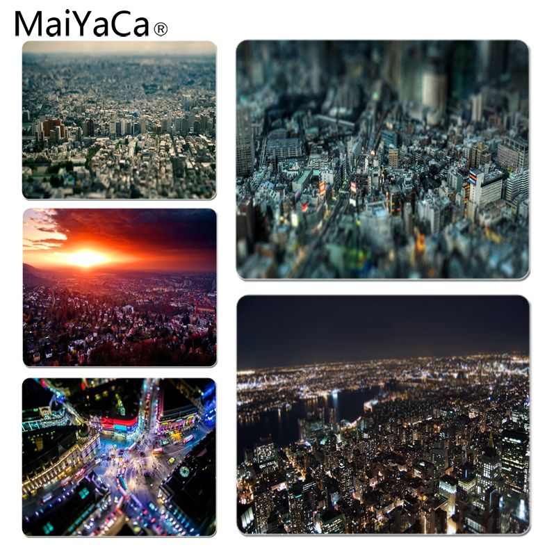 MaiYaCa Vintage Cool Miniature City Customized laptop Gaming mouse pad Size for 18x22cm 25x29cm Rubber Mousemats