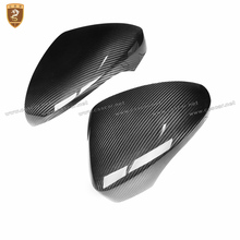 Carbon Fiber Side Wing Mirror Covers For Porsche Panamera 971 2017 2018 Add on Style Rear View Mirror Cover Car Styling Only LHD