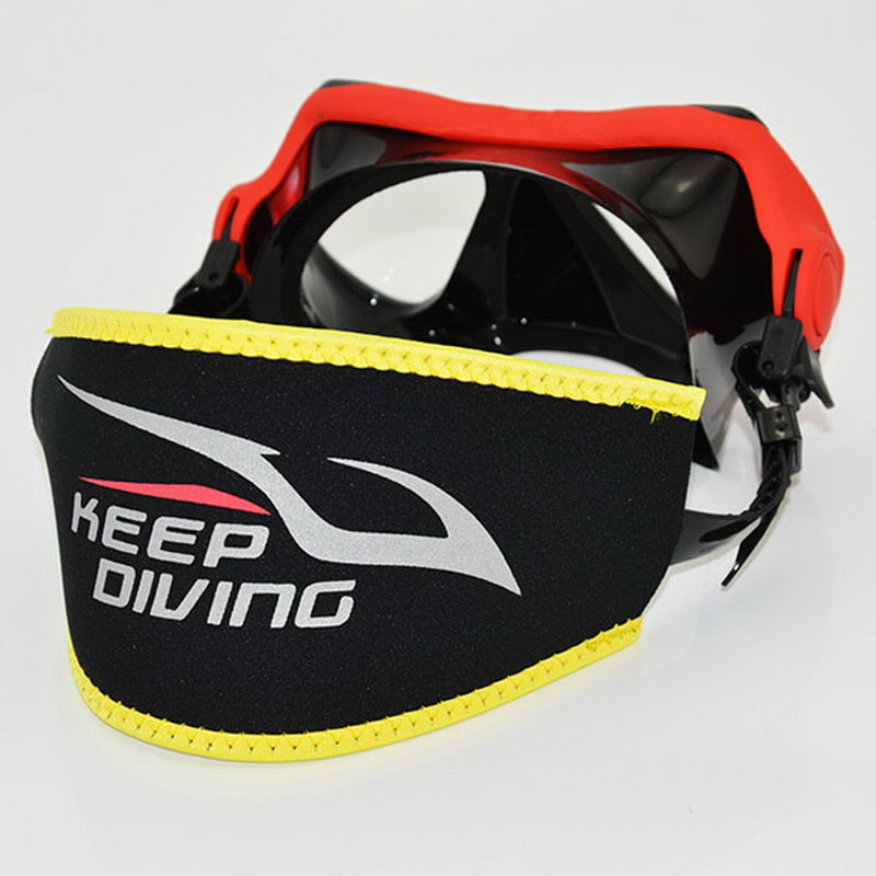 5 Colors Comfort Diving Scuba Mask Head Strap Cover Protective Mask Padded Long Hair Band Strap-Wrapper Equipment Black