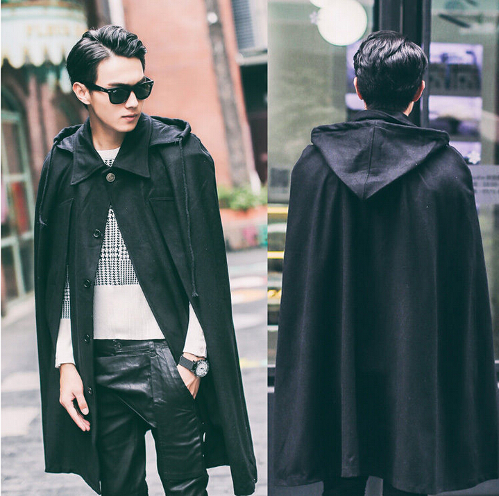 Hot Sale best quaity New Fashion Men's Cloak Poncho Hoodie