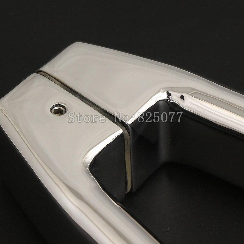 1PCS Oval Shape 304 Stainless Steel Polish Chrome Shower Door Moon Handle Bathroom Glass Door Handle CC 300 400mm JF1205 in Door Handles from Home Improvement