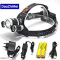 Best C-XM-L T6 8000 Lumen LED Headlamp Headlight Caming Hunting Head Light Lamp 4 Modes+2*18650 5000 mah Battery+ AC/Car Charger