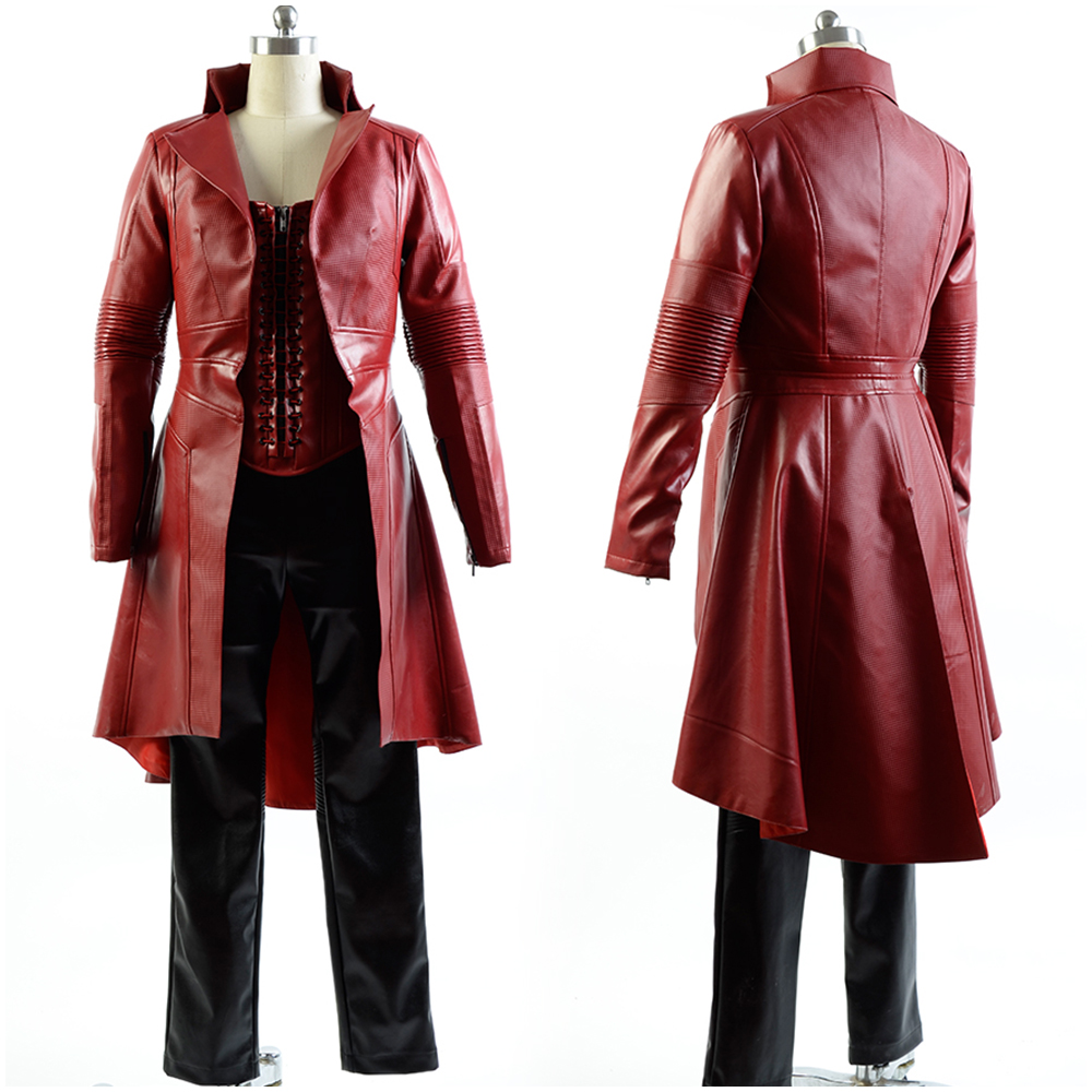 Captain America Civil War Avengers Scarlet Witch Wanda Leather Outfit FullSet Sexy Costume For  Halloween Carnival Cosplay Sets