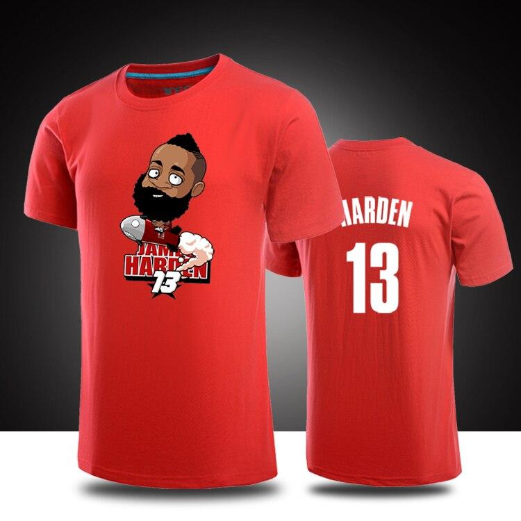 Buy james harden cartoon logo t shirts for Hawks t shirt jersey
