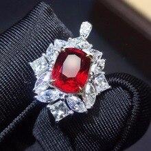 761dad160f37 Joyería Fina Real 18 K oro blanco Natural 100% 2.05ct de piedras preciosas de  rubí rojo 18 k diamantes de oro piedra anillo hemb.