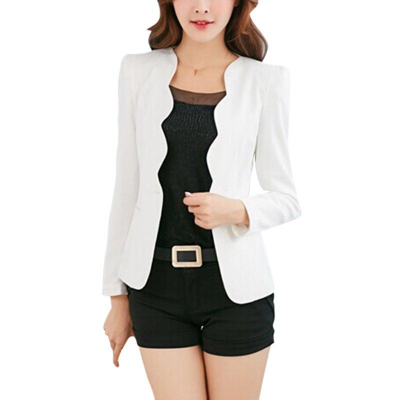 Повседневные деловые блейзер костюм женщины one button пальто куртки верхняя одежда блейзер карамельный цвет 2017 чудаковатый женские пиджаки и жакеты
