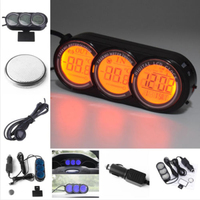 Dashboard LED Backlight Digital Display Temperature Thermometer Clock Sets Well