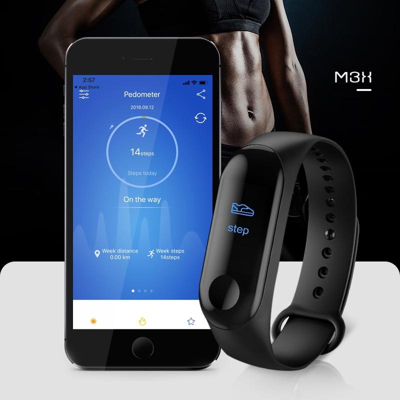 2019 M3 New Women Smart Watch Sports Watch Men Blood Pressure Monitor Heart Rate Fitness Tracker Pedometer Watch Band PK M3 Band