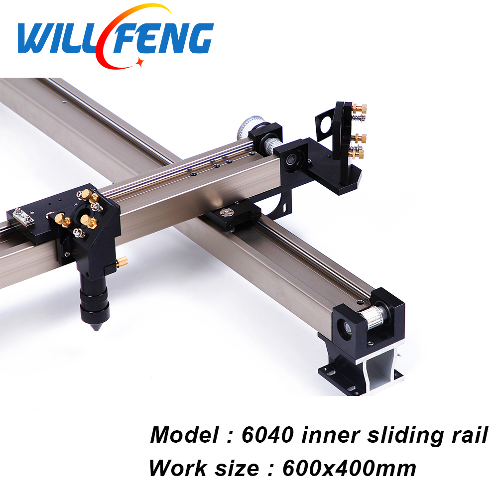 Will Feng 6040 Whole Set DIY Inner Slide Guide Rail  For Assemble Co2 Laser Cutter Engraving Machine All Install Mechanical Part