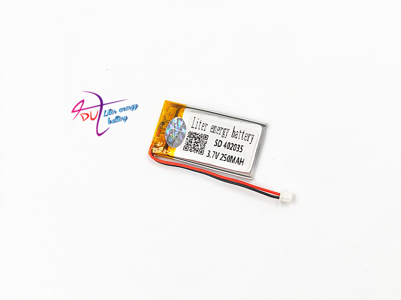 JST 1.25mm 2 pin <font><b>402035</b></font> <font><b>3.7V</b></font> 250mAh <font><b>battery</b></font> Lithium Polymer Li-Po Rechargeable Handheld GPS Navigator <font><b>Battery</b></font> Mp3 GPS bluetooth image