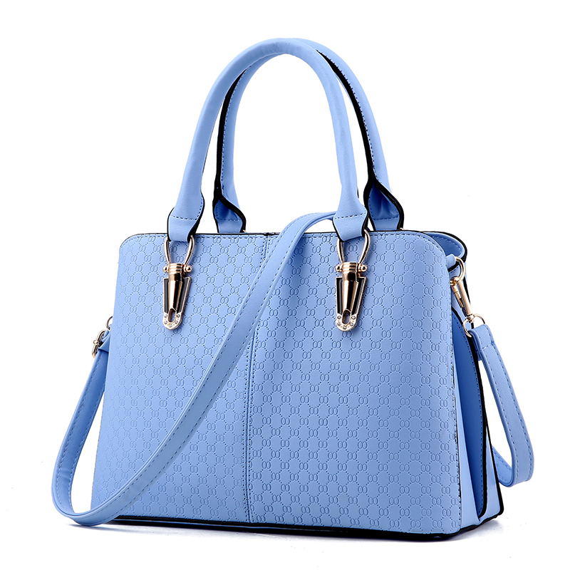 ФОТО 2017 New Fashion Big Women Handbags Of Famous Brands PU Leather Shoulder Bag zipper 10 Colors to Choose