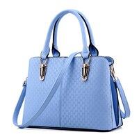 2015 New Fashion Big Women Handbags Of Famous Brands PU Leather Shoulder Bag Zipper 6