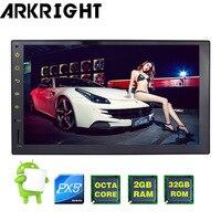 ARKRIGHT 2 двойной Din головное устройство gps навигационный приемник 7 PX5 Восьмиядерный Android 8,0 универсальный автомобильный Радио Аудио мультимед