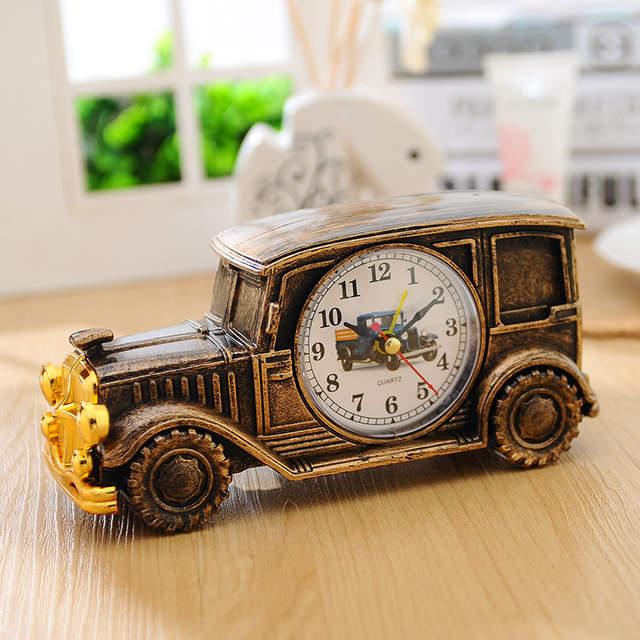 Alarm Clock Classic Car Shape Alarm Clock for Home Decor Bedroom Decoration  for Kids Childrens 6colors choose