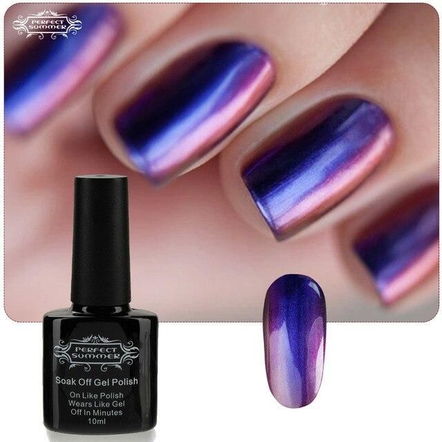 Perfect Summer Chameleon Soak off LED UV Nail Gel Polish 10ml Newest Colors Beauty Nail UV Gel Limited Sale