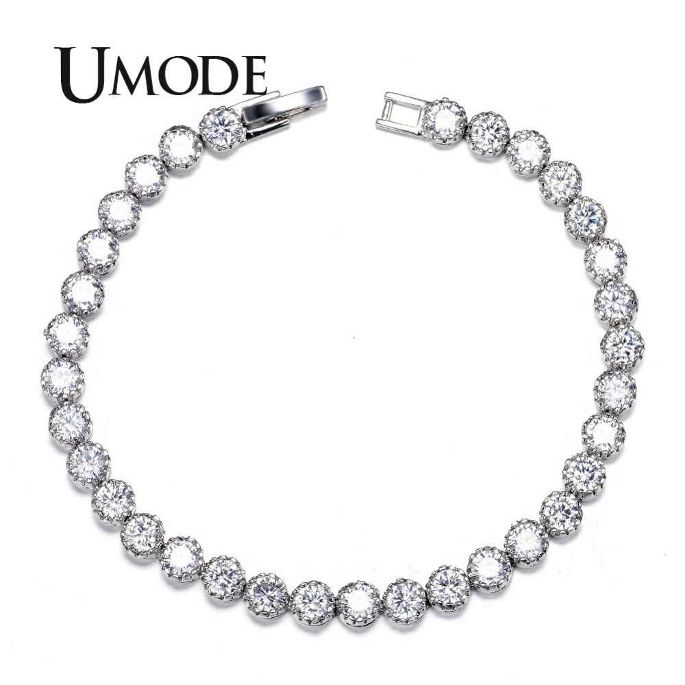 UMODE Women's Tennis Bracelet with 31pcs 0.25 carat Top Quality AAA+ Cubic Zircon New Fashion Bracelets & Bangles UB0030