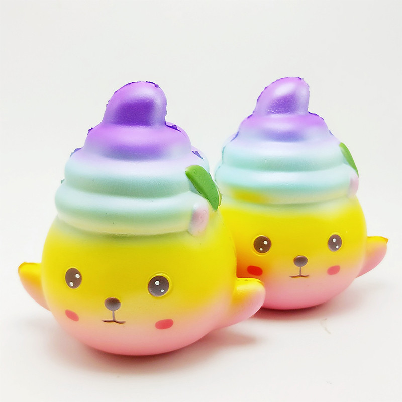 Jumbo Kawaii Colorful Poo Doll Squishy Slow Rising Phone Strap Cream Scented Squeeze Toy Stress Relief Phone DIY Accessories