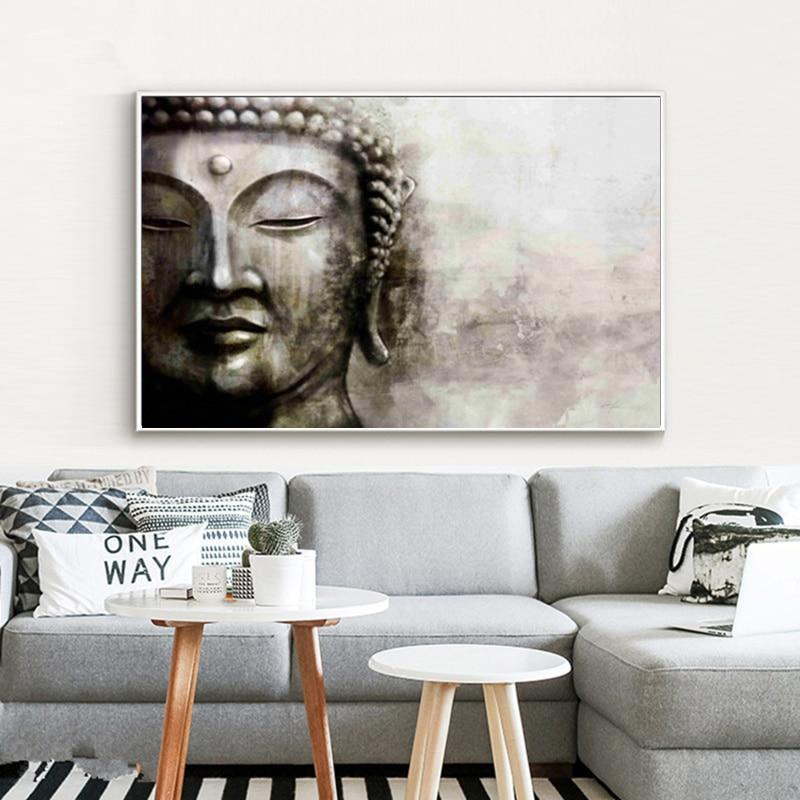 부처님 캔버스 그림 HD 인쇄 현대 추상 유화 벽 예술 거실 홈 장식