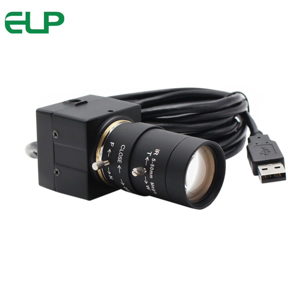 960 P AR0130 1/3 capteur CMOS 0.01Lux faible éclairage Mini caméra USB HD avec lentille varifocale 2.8-12mm pour télescope d'astronomie