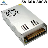 LED Display Switching Power Supply Output 5V 60A 300W Built In Cooling DC Fan Full Range