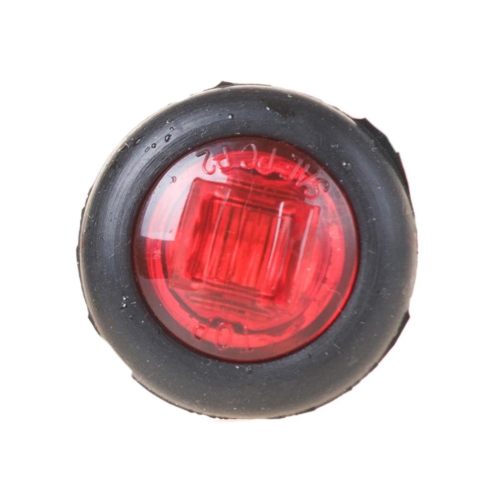 10pcs / Lot 10-20V 0,75 inch LED Trailer Small Marker light / Clearance light for Light Light with PVC Grommet