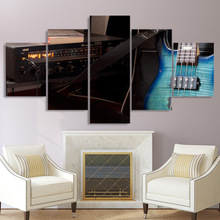 HD Printed Canvas Unframed Wall Painting 5 Panel Music Musical Instrument Guitars Living Room Modular Home Decor Pictures Poster