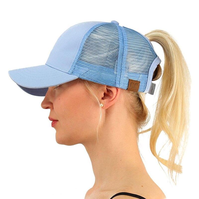 2018 Ponytail Baseball Cap C.C Ponytail Caps Women Messy Bun Baseball Hat Snapback Caps Summer Sports Hat